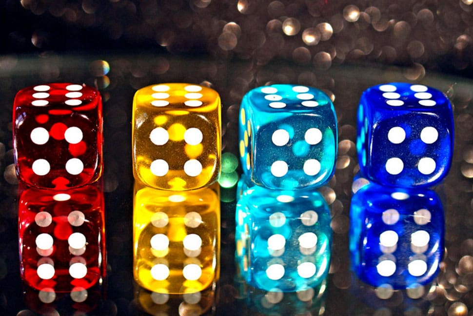4 dice for a game of craps