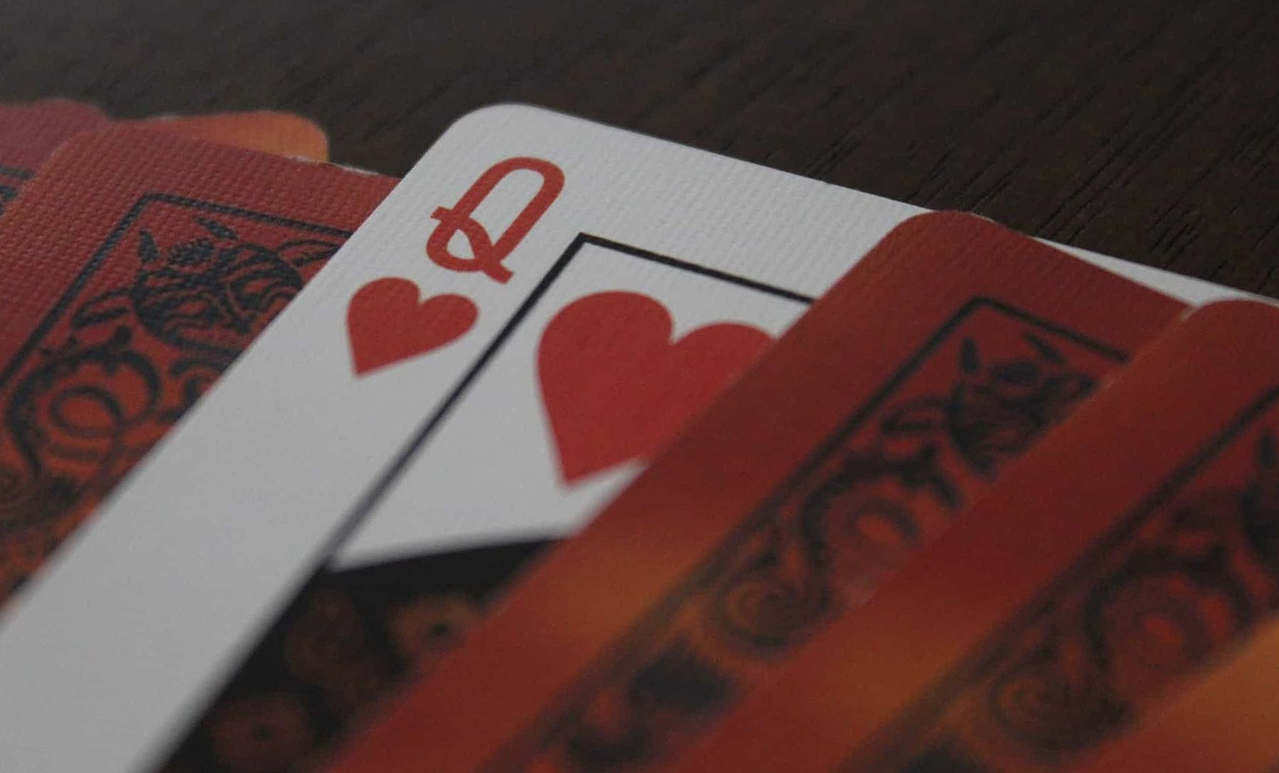 red poker cards