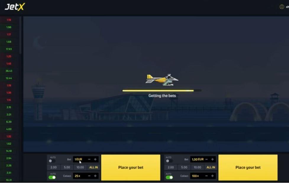 JetX game screenshot